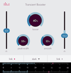 Transient Booster plugin by denise