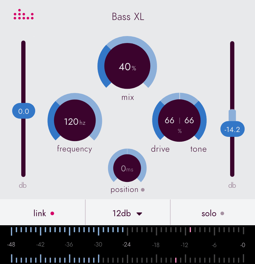 Picture of the denise Bass XL plugin