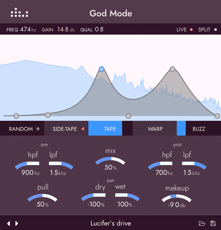 Picture of the denise God Mode plugin
